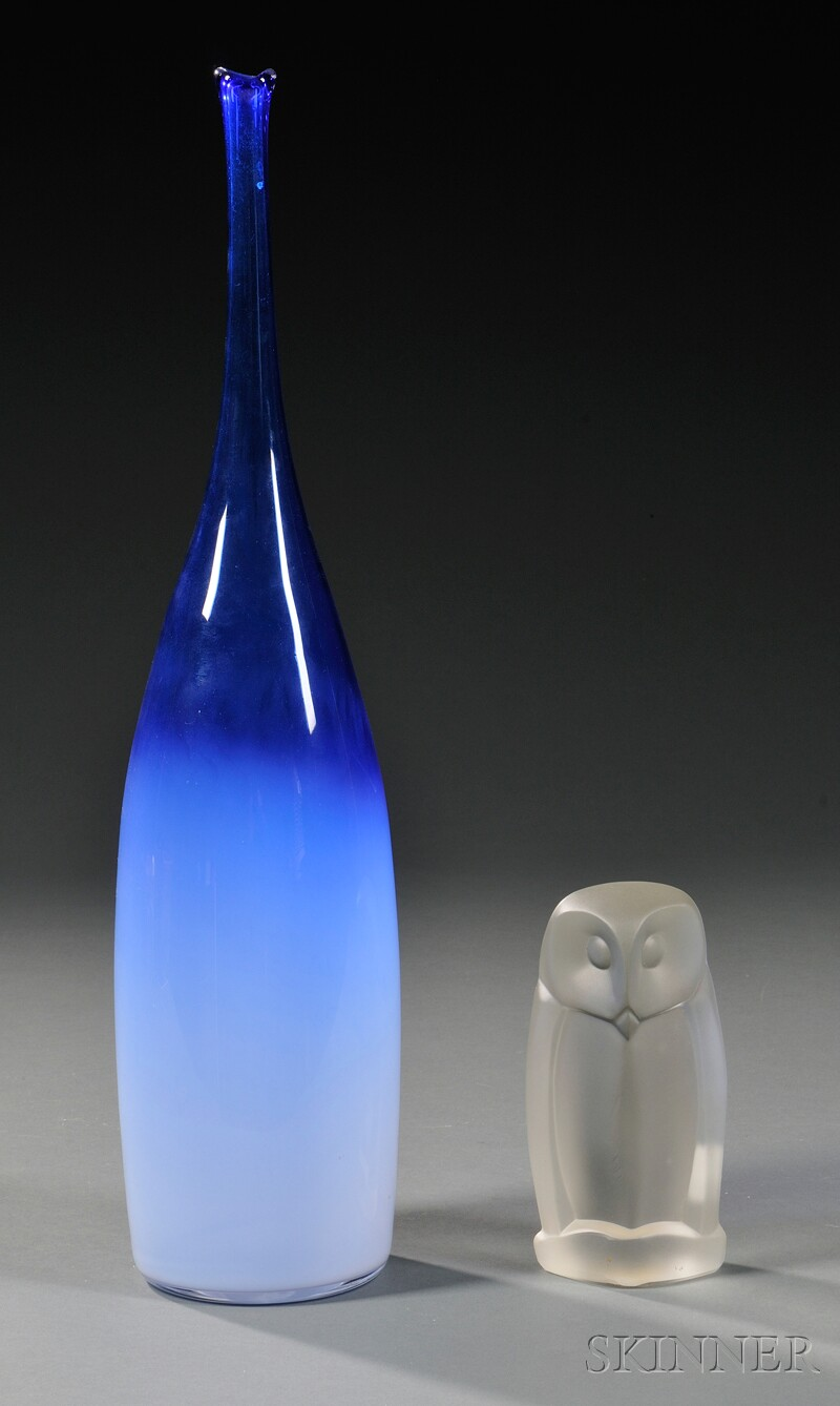 Two Pieces of Leerdam Glass
