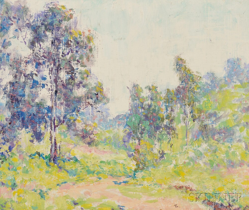 William Henry Clapp (American, 1879-1954)      Landscape / A Spring Study