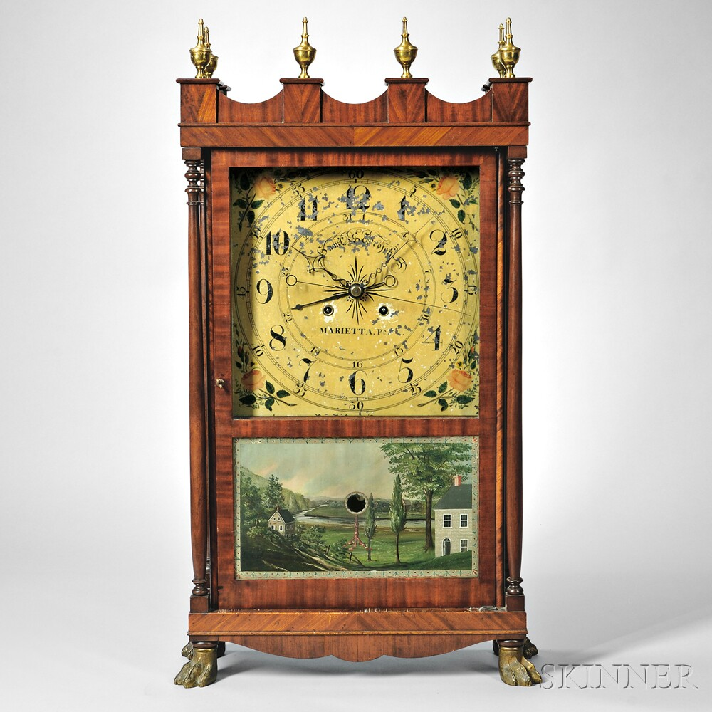 Samuel S. Grosch Mahogany Shelf Clock