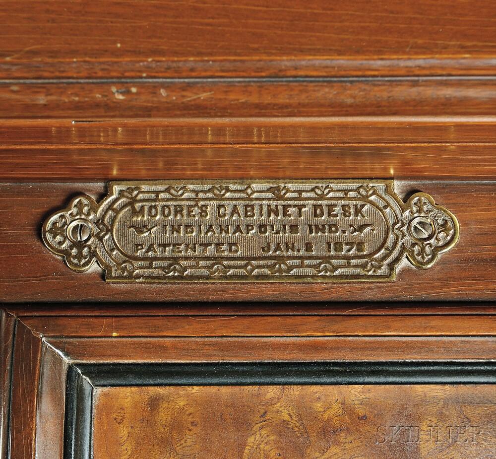 Renaissance Revival Joseph Moore Cabinet Desk