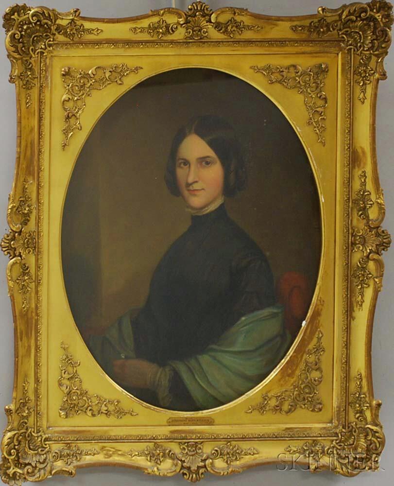 American School, 19th Century       Portrait of Josephine Hays Willock.
