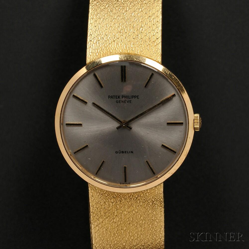 18kt Gold Wristwatch, Patek Philippe, Retailed by Gubelin