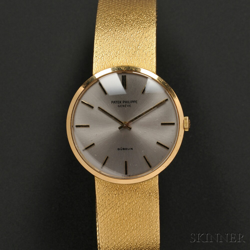 18kt Gold Wristwatch, Patek Philippe, Retailed by Gubelin