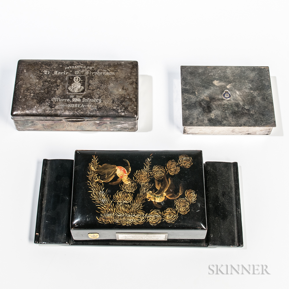 Three Korea/Vietnam-era Presentation Cigarette Boxes