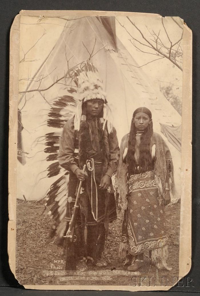 Cabinet Card of a Kiowa Couple