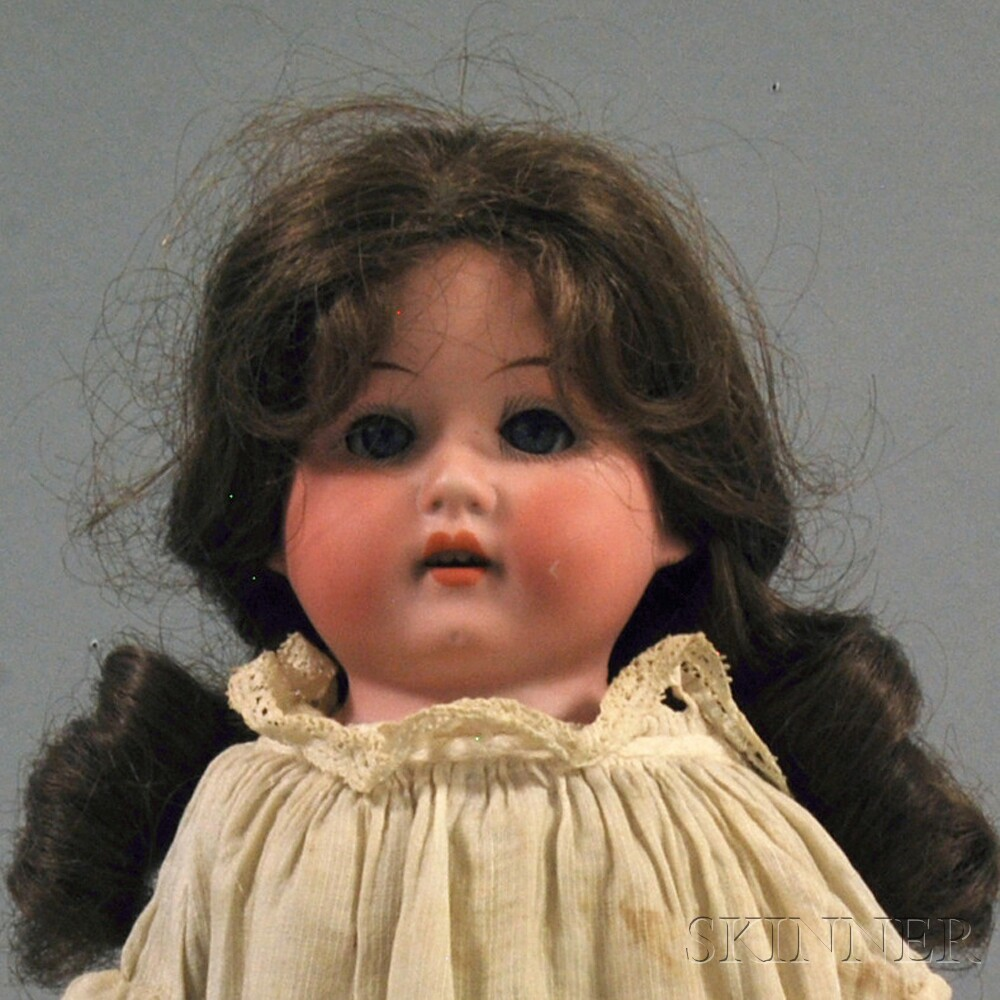 Heubach Bisque Shoulder Head Girl Doll