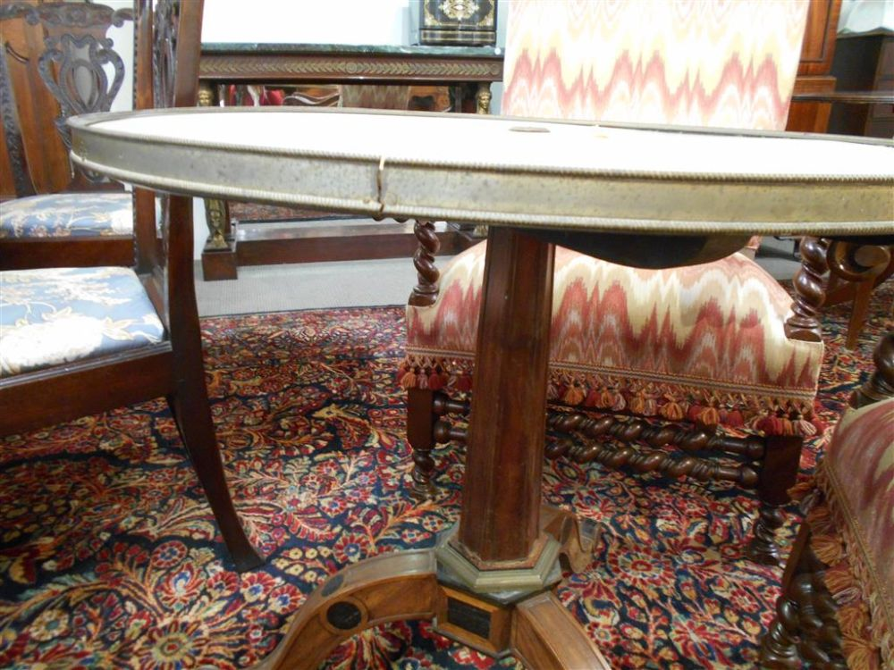Louis XVI-style Mahogany and Marble-top Gueridon