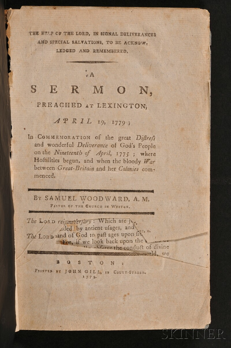 (Revolutionary War, Lexington and Concord), Chandler, John (1731-1810), His Copy