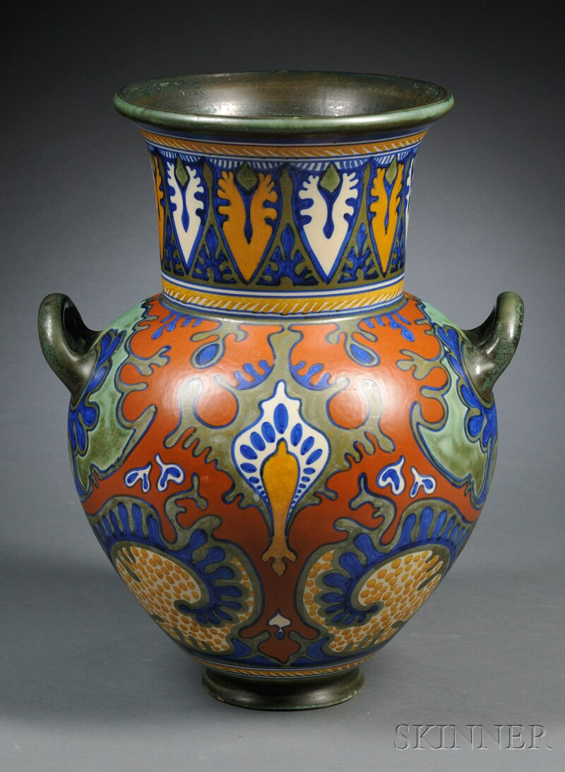 Zuid Holland Gouda Pottery Matte Glaze Floor Vase