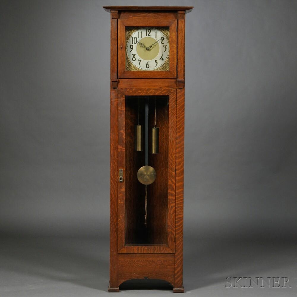 Oak Arts & Crafts Tall Clock