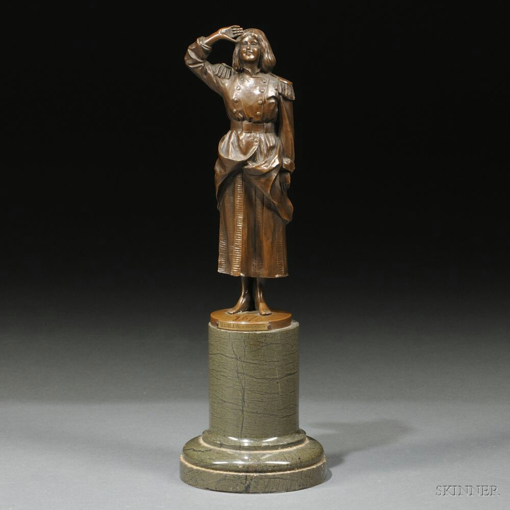 Bronze Depiction of Miss Dorothea Baird
