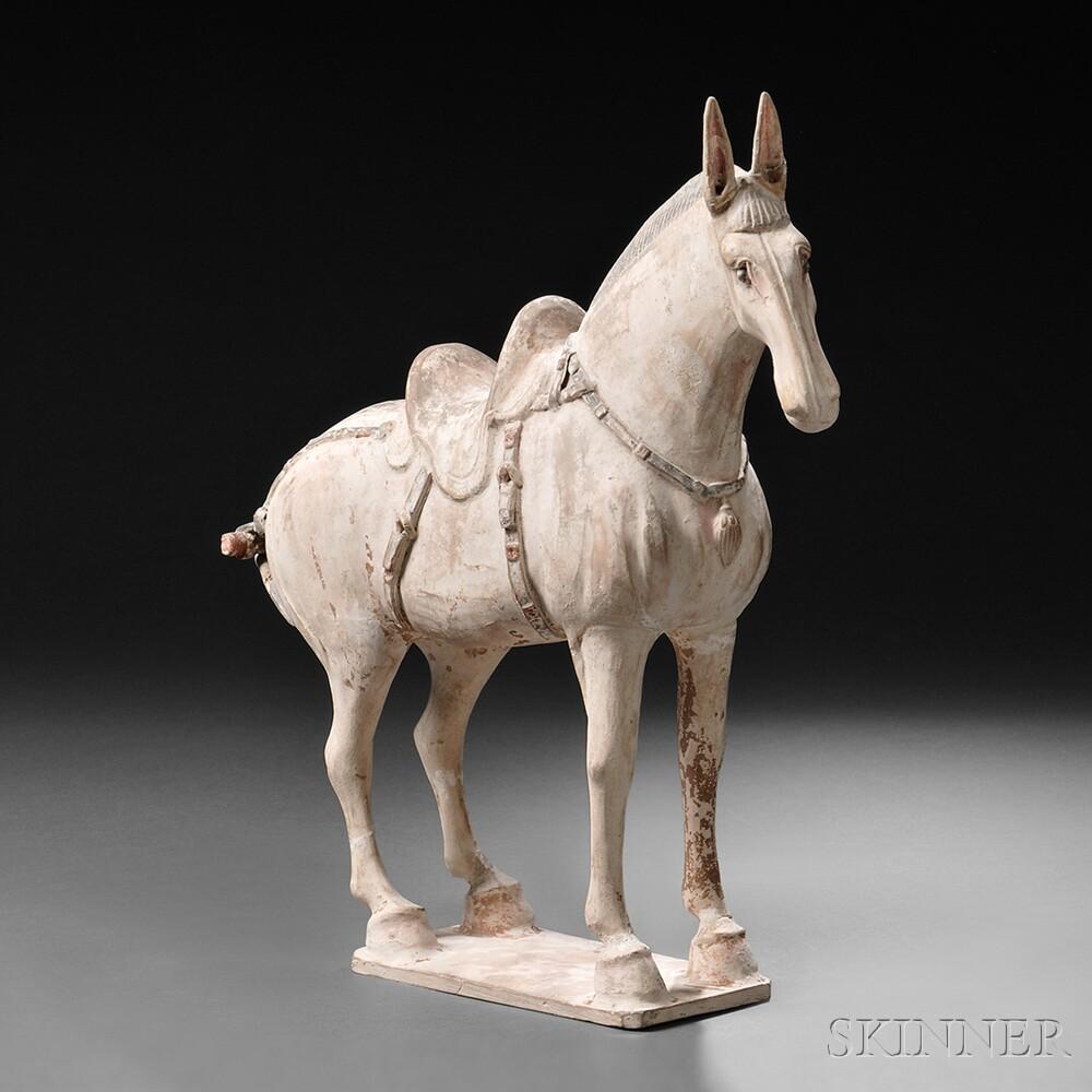 Pottery Caparisoned Mule