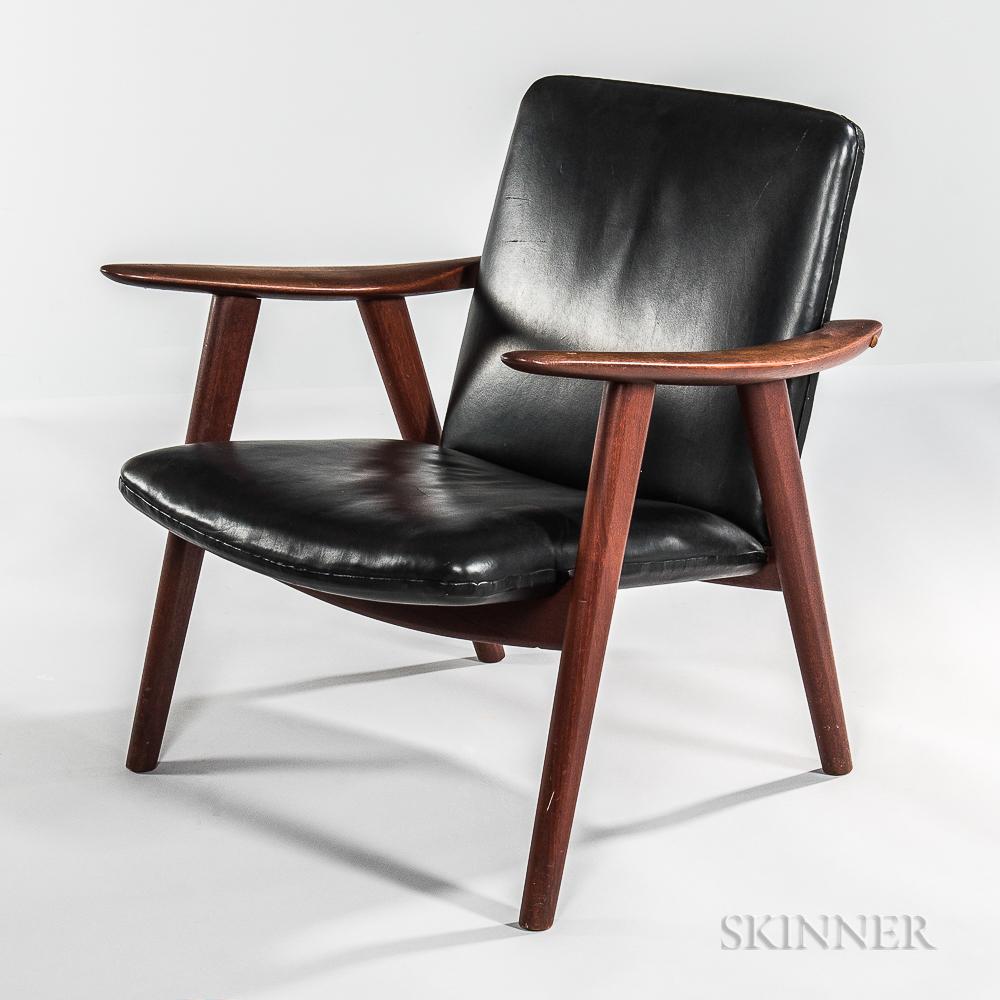 """Hans J. Wegner for Johannes Hansen """"Buck"""" Lounge Chair"""