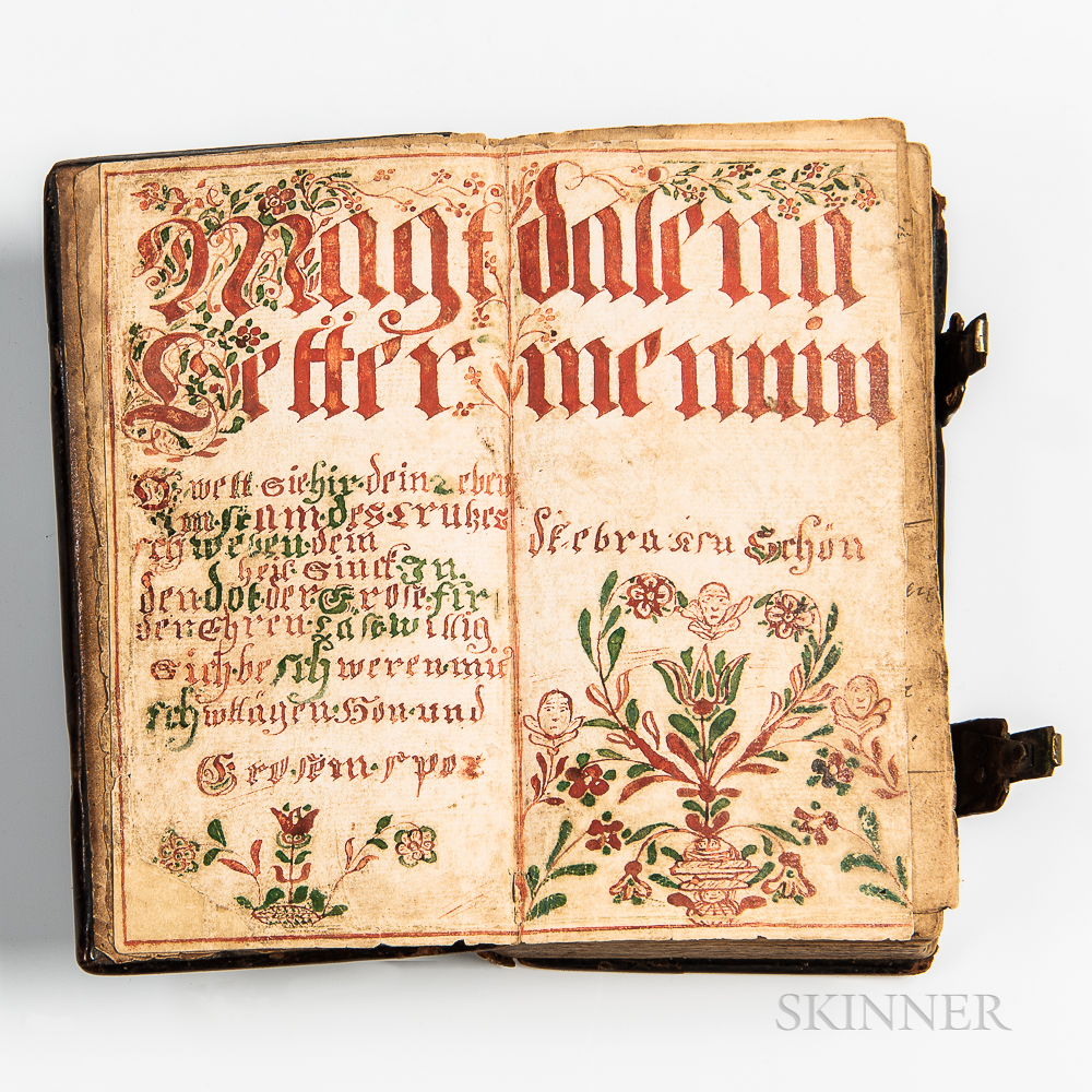 18th Century Germantown Prayer Book with Fraktur Endpaper