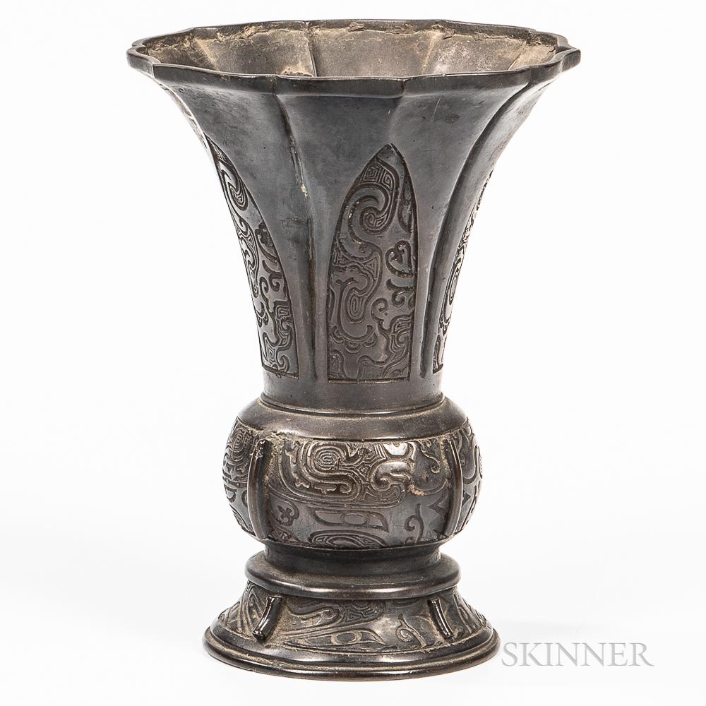Bronze Gu   Vase