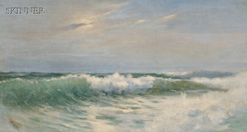 Benjamin Franklin De Haven (American, 1856-1934)      Cresting Surf