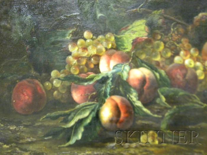 American School, 19th/20th Century      Still Life with Fruit.