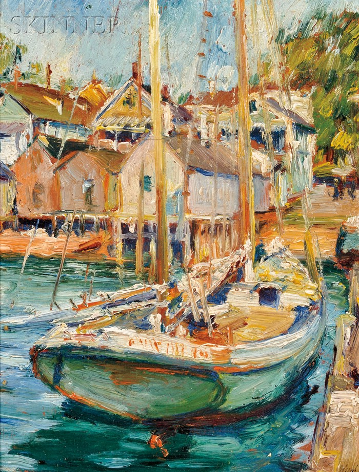 Max Kuehne (American, 1880-1968)      In the Harbor, Provincetown
