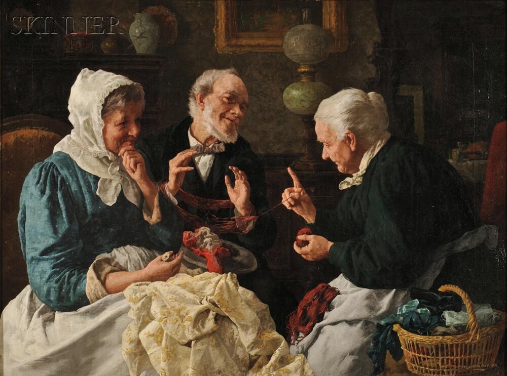 Louis Henry Charles Moeller (American, 1855-1930)      In the Parlor