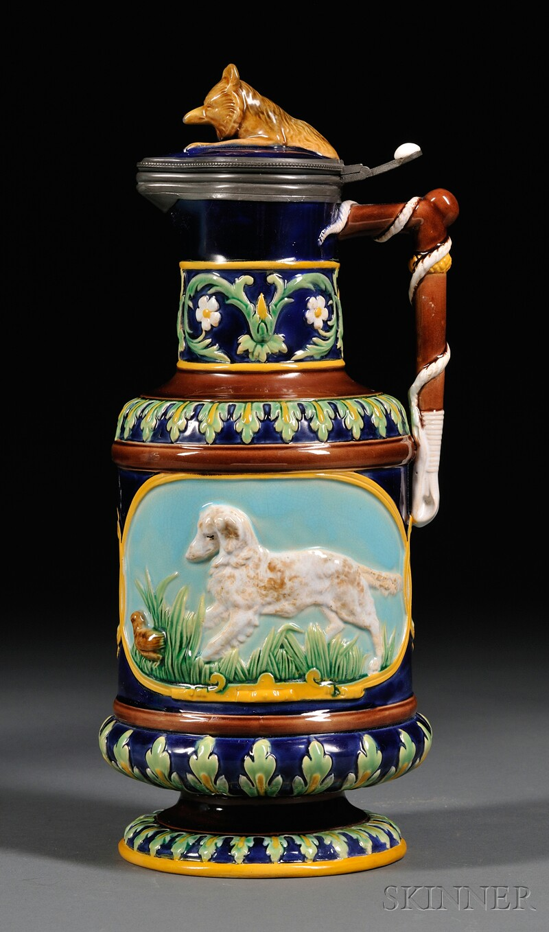 George Jones Majolica Jug