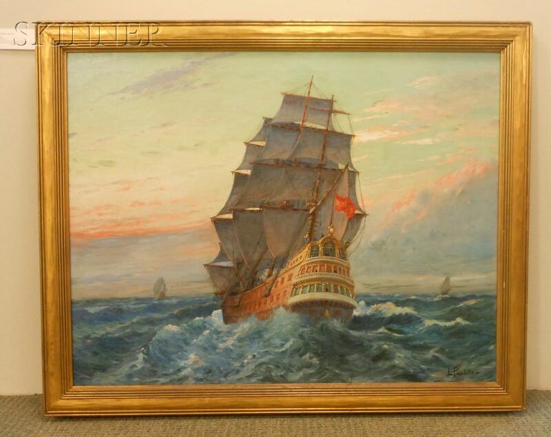 Luigi Paolillo (Italian, 1864-1934)      Galleon at Sea.