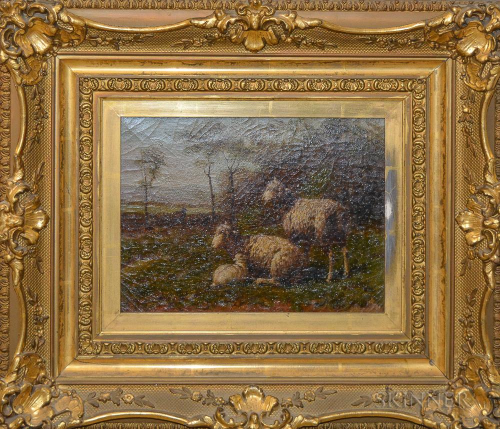 George Rieke (New York, 1848-1930)       Portrait of Sheep