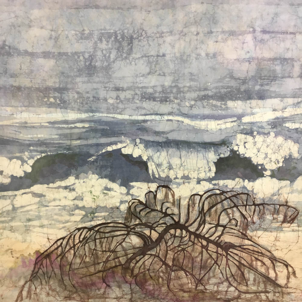 Framed Mary Taylor (American, 20th Century) Batik Indian Ocean I