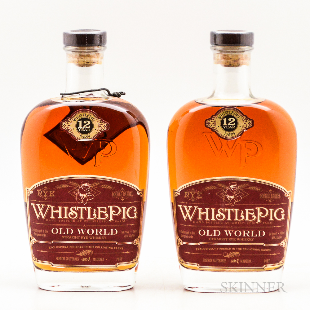 Whistle Pig 12 Years Old, 2 750ml bottles Spirits cannot be shipped. Please see http://bit.ly/sk-spirits for more info.