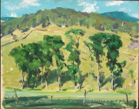 Jay Hall Connaway (American, 1893-1970)    Pawlet Valley Trees - Summer