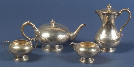 Henry Birks & Sons Four Piece Sterling Tea and Coffee Service