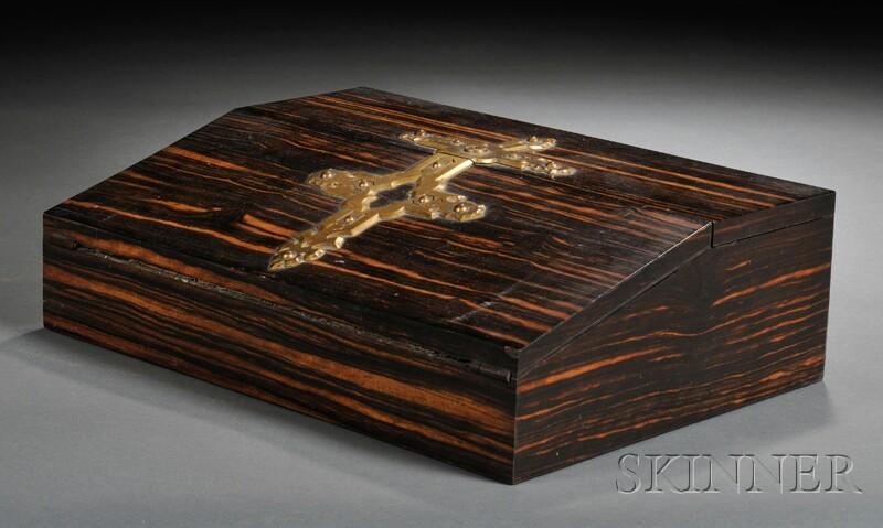 Victorian Brass-bound Coromandel Lap Desk