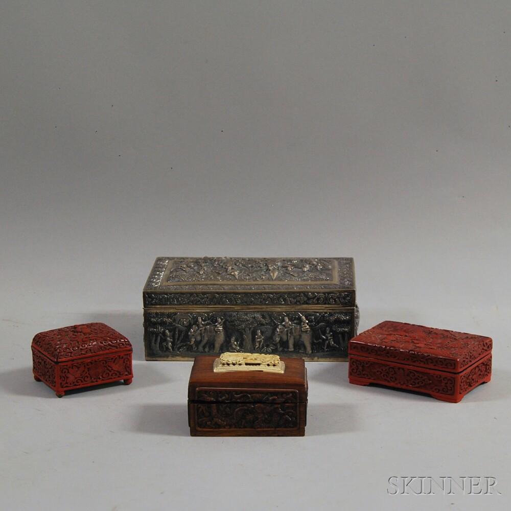 Four Asian Decorative Boxes