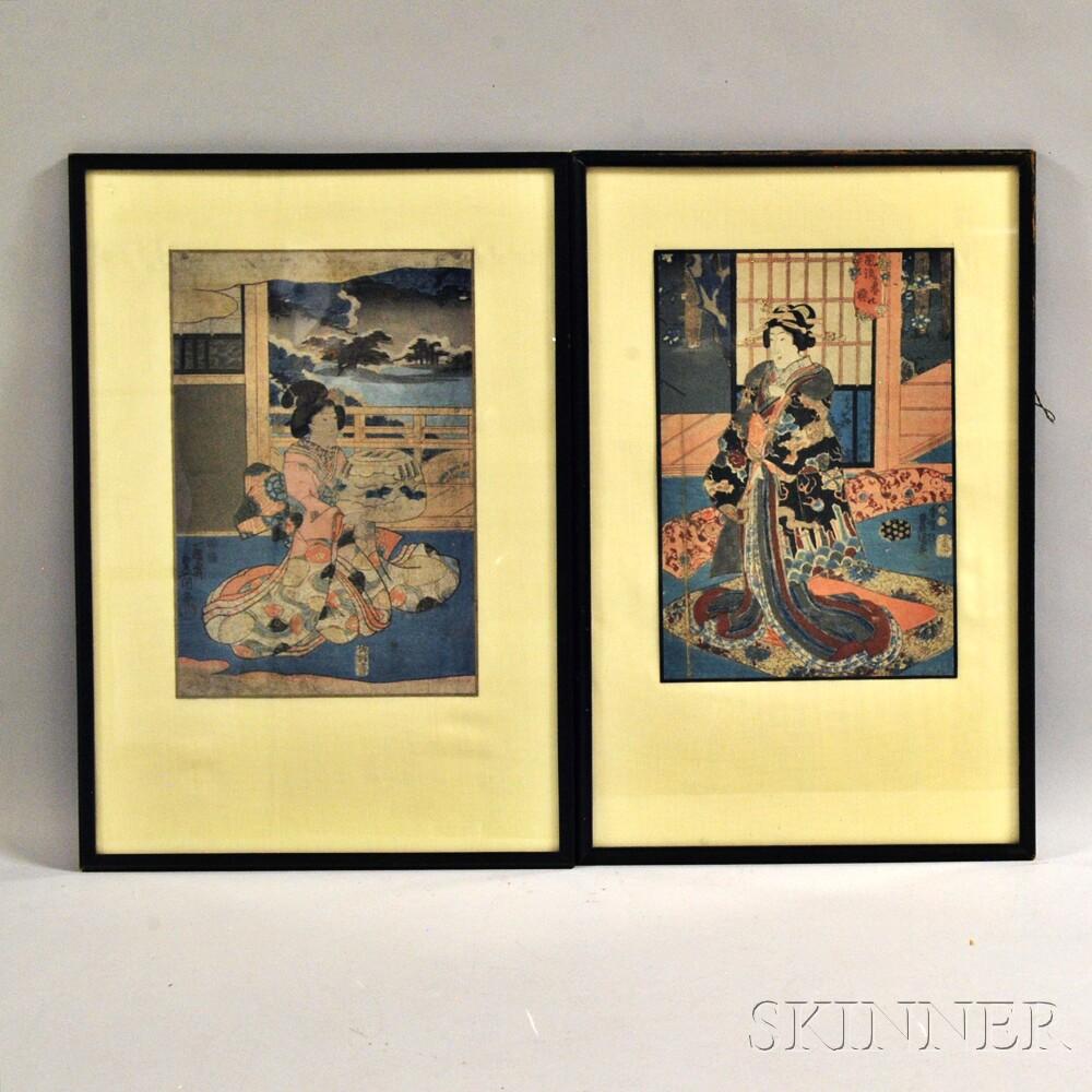 Two Woodblock PrintsTwo Woodblock Prints