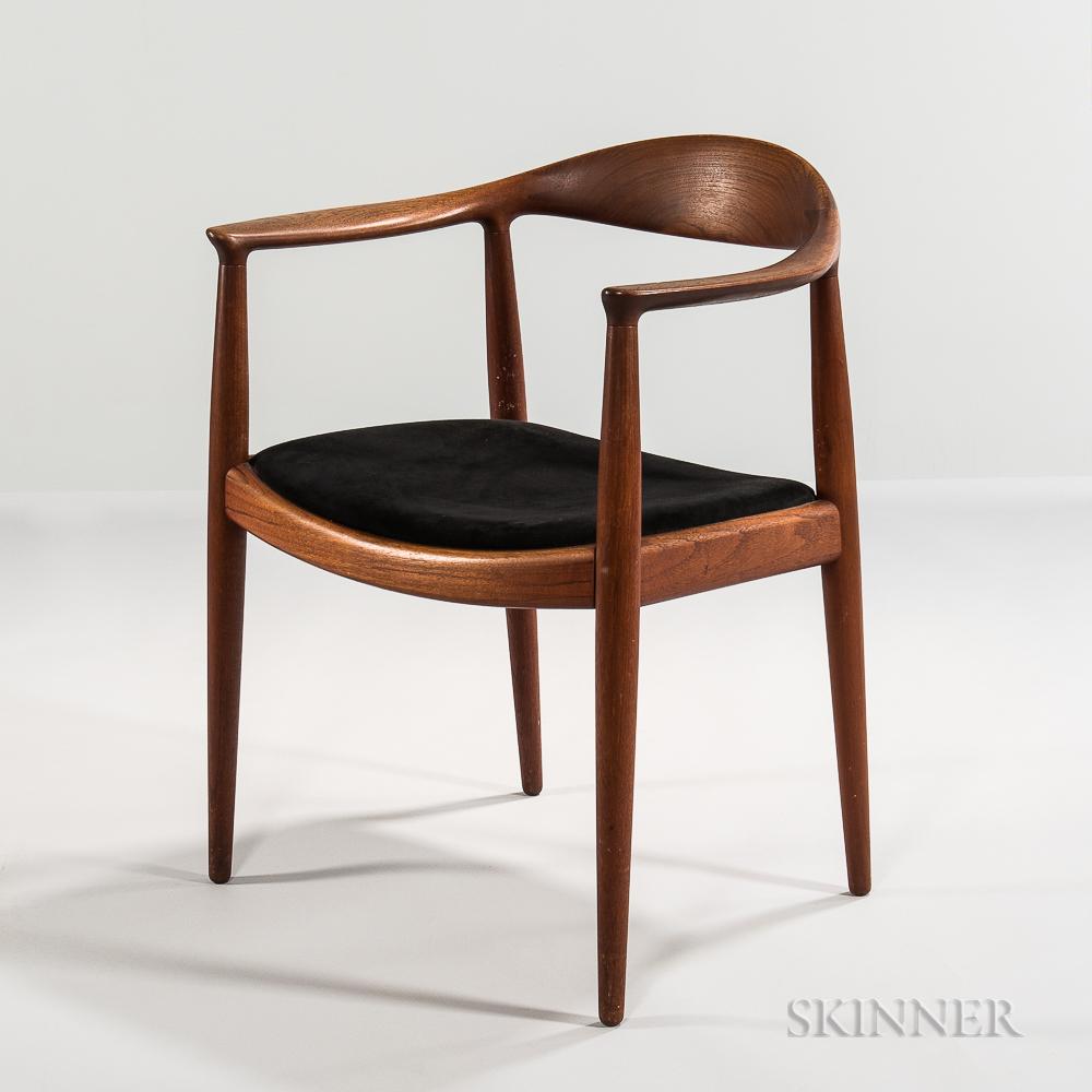 """Hans J. Wegner for Johannes Hansen """"The Chair"""" Armchair"""