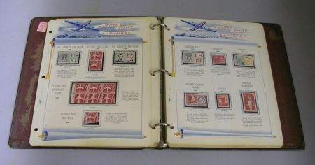 U.S. Air Mail and Back of Book Album.