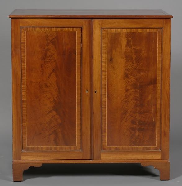 Regency Inlaid Mahogany Side Cabinet