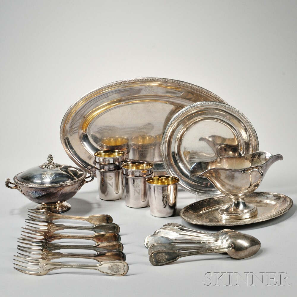 Twenty-two Pieces of Christofle Silver-plate Tableware & Twenty-two Pieces of Christofle Silver-plate Tableware | Sale Number ...