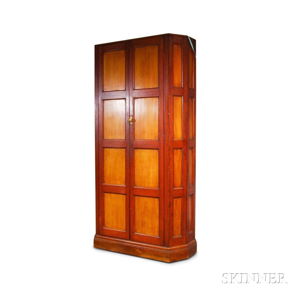 Mahogany Paneled Two-door Wall Cupboard