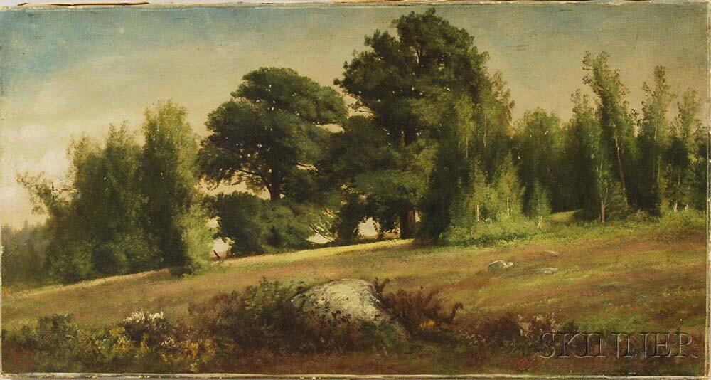 Harrison Bird Brown (American, 1831-1915)       Landscape with Meadow.