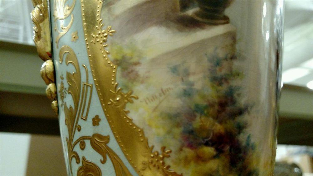 Royal Vienna-style Porcelain Gilt-bronze-mounted Vase