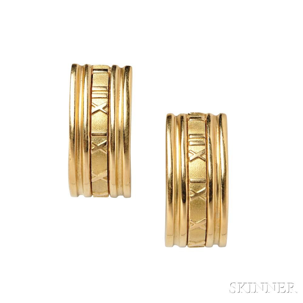 """18kt Gold """"Atlas"""" Earrings, Tiffany & Co."""