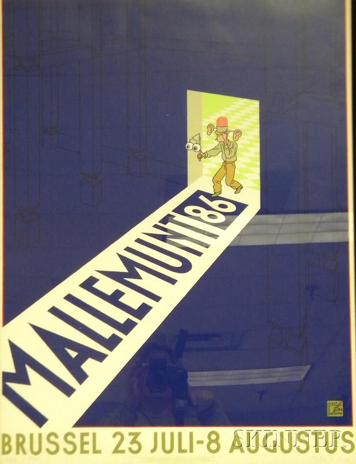 Two Works:      Joost Swarte (Dutch, b. 1947), Mallemunt 86