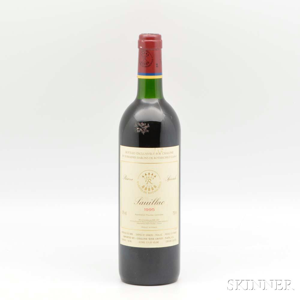Baron de Rothschild Reserve Speciale Pauillac 1995, 1 bottle