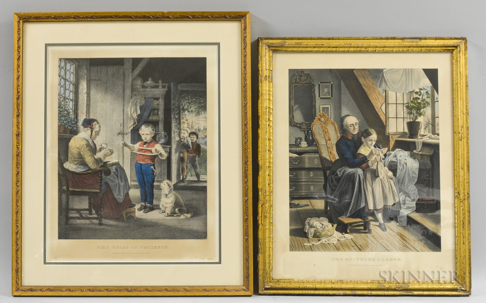 Two Framed Currier & Ives Engravings
