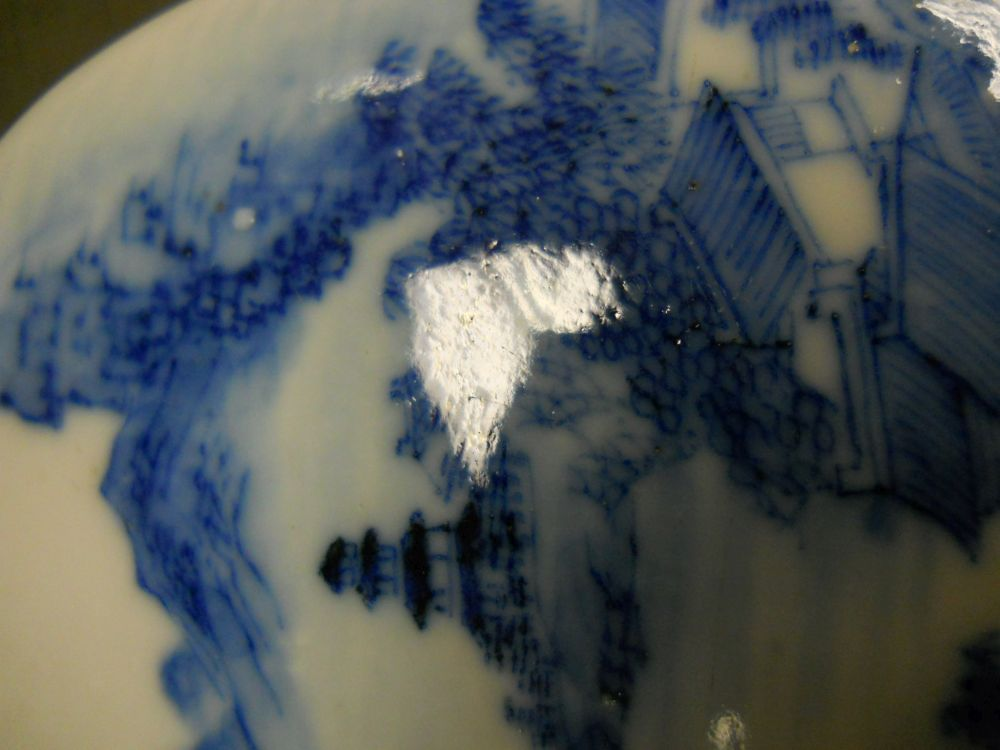 Blue and White Porcelain Covered Case