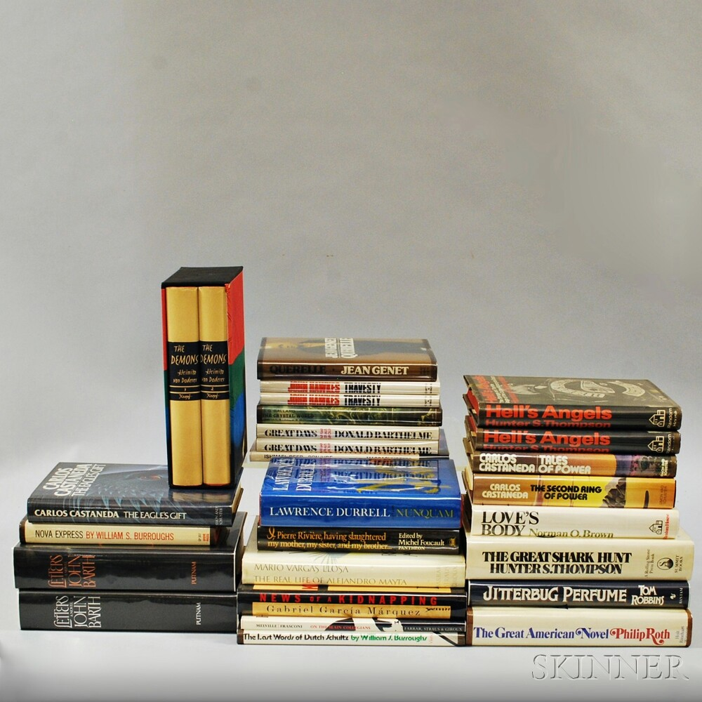 Post-modern Fiction, First Editions, Twenty-seven Volumes