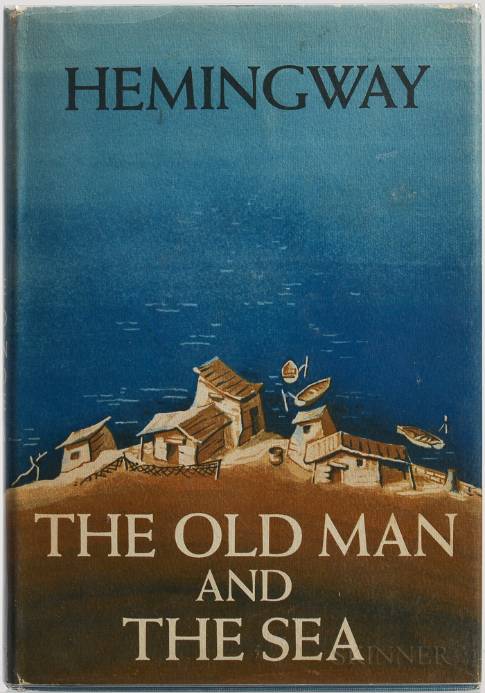 Hemingway, Ernest (1899-1961) The Old Man and the Sea  , Signed First Edition.