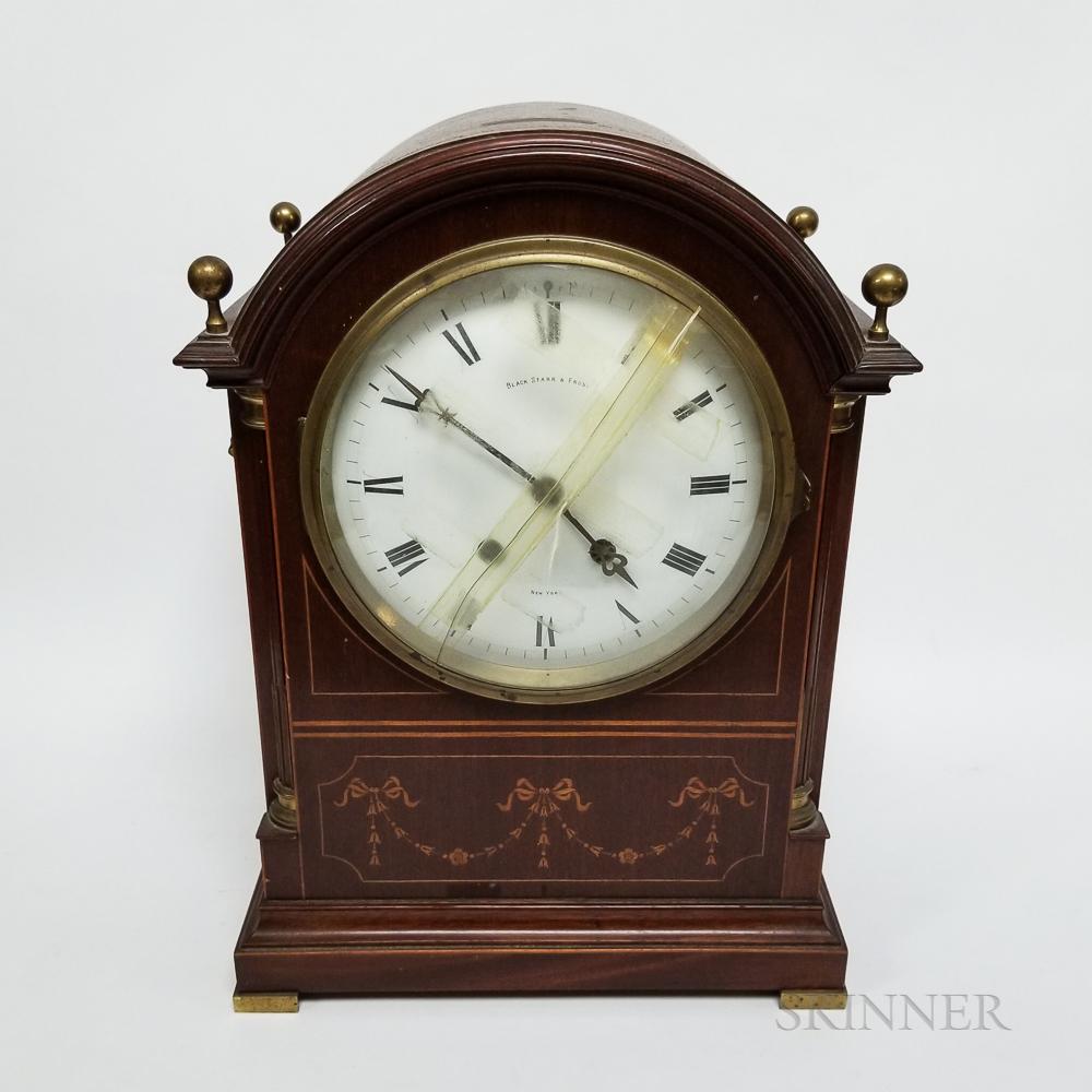 Black, Starr & Frost Adams-style Inlaid Mahogany Bracket Clock