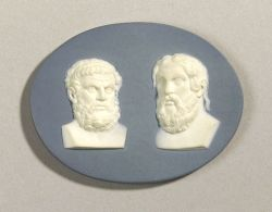 Wedgwood and Bentley Solid Blue Jasper Double Portrait Medallion