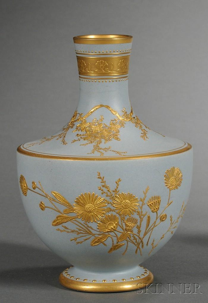 Wedgwood Solid Blue Stoneware Vase